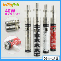 New product ego now arctic 40w battery clear tube pack e cigarette for china wholesale