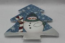 melamine Christmas tray x'mas tree plate