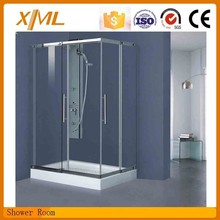 shower cabin& back support safety tempered glass shower room with good price