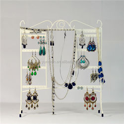 fashion customized microfiber leather velvet jewelry display props new acrylic counter top jewelry display low price