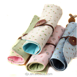 promotion rounded pencil bag printed stationery case eco friendly student pencil pouch box