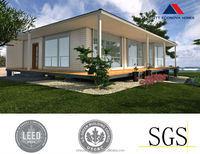 new style and beautiful beach resort prefabricated villa with solar system