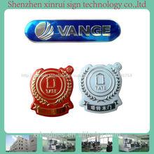 placa de aluminio para el nombre de la empresa con logotipo 3d