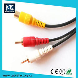 Fcatory Price 3.5mm Male to RCA audio cable for PC High Quality