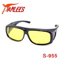 Panlees sports eyewear yellow fit over reading glasses uv400 polarized lenses sun glasses frame goggles clip on sunglasses