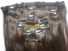 Custom Indian/Peruvian Clip In Hair Extension, Human Hair Extensions Clips