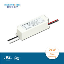 2015 hot with 5 years warranty and UL approved Inventronics constant current 24W traic dimming led driver supply