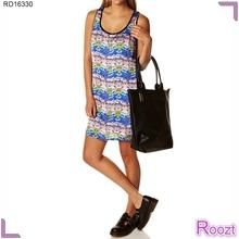 Elegante simple de las señoras vestidos para el verano africanos vestidos de impresión