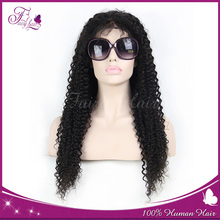 2015 Women Often Orders Afro kinky Indian Human Hair Lace Front Wig