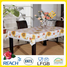 cutwork table cloth PVC with flannel backing