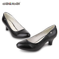 sex high heel thick sole women leather shoe model brand