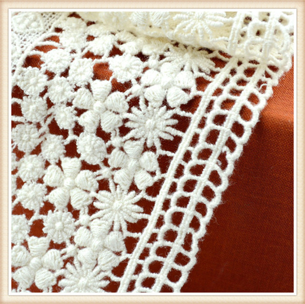 2015 Hot Sell New Designs Polyester Flower Pattern Crochet Lace