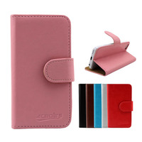 small moq wallet with stand cover leathe flip case for lenovo k900