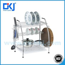 3 tires Wire table Shelving for kitchen