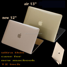 2015 New arrival 1mm transparent crystal for macbook 12 inch case