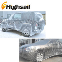 Hot Selling PE Disposable Clear Plastic Car Covers