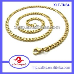 XLT-TN34 China Manufacturer Whosale New Gold Curb Chain Design For Men