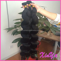 Full Cuticle 7A Best Virgin Hair Extension Weft raw indian hair bundle