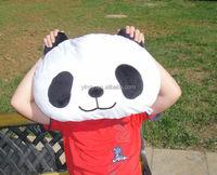 simple design animal design lovely panda wholesale back cushion high jump cushion