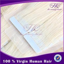 Best Selling hand tied virgin brazilian hair #60 skin weft seamless hair extensions