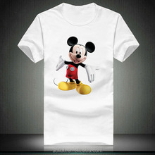 mickey mouse printing t-shirt
