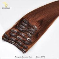 Factory Wholesale Most Popular 100% Virgin Unprocessed long straight clip in human hair extension