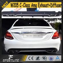 W205 C Class AMG PP Car Rear Bumper + Exhaust Muffler for Mercedes W205 Standard 2015
