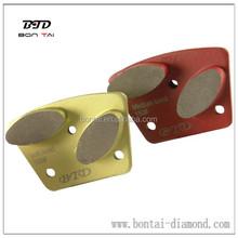 Bontai trapezoid concrete metal bond diamonds pad two bars segments medium grits