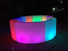 good quality hot event party LED rgb illuminated round Bar Counter