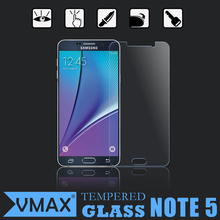 Best quality phone accessory 0.3mm 9H 2.5D curved edge tempered glass screen protector for samsung galaxy note 5 in stock
