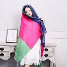 e157 yywbjwj B376 filling it with warm intern Zhao Liying Song Art Department paragraph hit color stitching cotton shawl