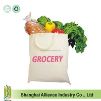 Eco-Friendly Reusable Durable Grocery Shopper Shopping School Carrying Books Cotton Plain Shoulder Tote Bag