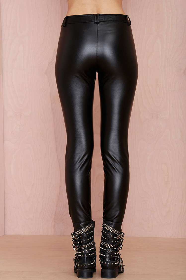 Mature Sexy Pictures Leather Leggings For Women Tight Faux ...