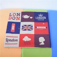 colorcasa ETH0170 cotton pillow case printed pillow case custome pillow case British flag cheap custom flags