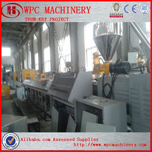wood plastic composite decking/fence/ garden furniture/ wpc profile production line