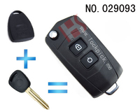 High quality auto key shell for China Automobile Style 2 button folding remote key casing,wholesale,029093