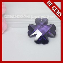 wholessale price rough cut purple precious CZ stones