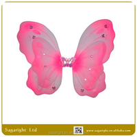 princess pink wholesale fairy wings handmade costume fairy wings butterfly isis wings for dancing