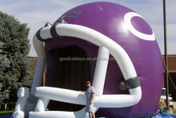 inflatable helmet,purple helmet inflatable tunnel,inflatable party tent,outdoor event inflatable channel