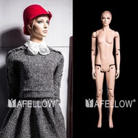 Realistic full body movable female mannequins for show clothing