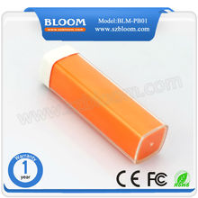 Hotsale low price high quality lipstick 2600mah manual for power bank