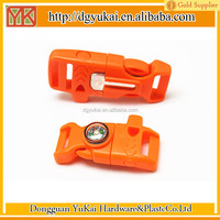 colored plastic side release buckle/logo side release buckle/curved buckle