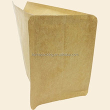 Side gusset plastic pet food packaging bag and flat bottom with zippe
