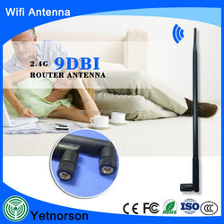 9dBi Omni WiFi Antenna with RP-SMA for Wireless Network Router/USB Adapter/PCI PCIe Cards/IP Camera/Wireless Range Extender