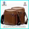 China High Quality Stylish Best Custom 2015 Men Brown PU Leather Sling Bag