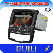 SsanngYongKorando GPS Navi Unit Car Dvd Player Electronics with BT TV Turner