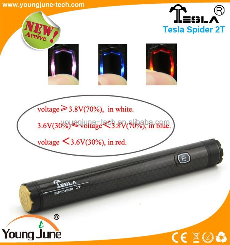 Tesla vaporizer vape pen Spider 2T 1300 mah capacity vv battery / bbtank vape pen / bbtank vape