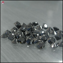 Color cubic zirconia black CZ synthetic gemstone big size round shaped
