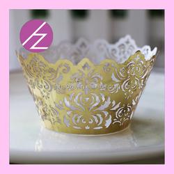 Laser cut party favors royal golden paper crown for wedding, party decoration DG-32