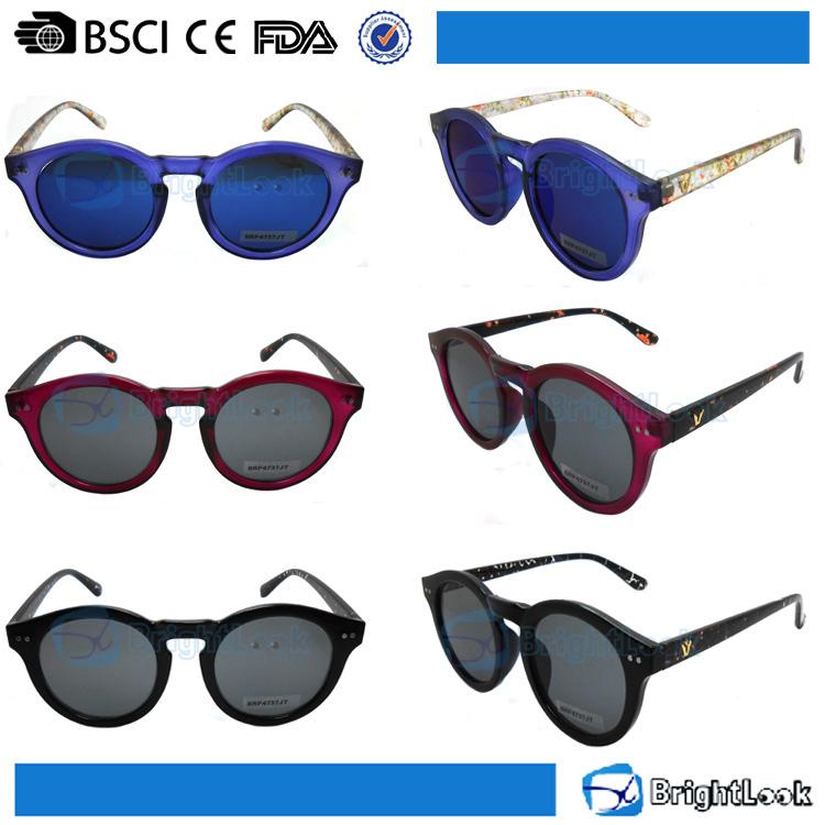 Nouveauté concepteur personnalisé purple fashion cat eye sexe femmes lunettes de soleil